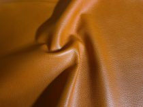 cow leather, embossed grain, orange