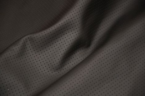 cow perforated, black