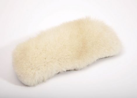 Eyeglass case decorated with mink fur