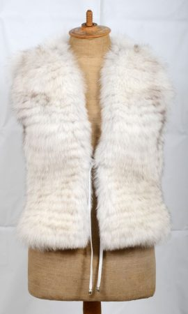Blue fox vest