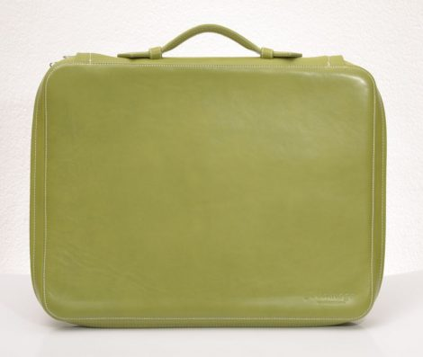 Leather laptop bag with panofix lining (more colours)