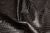 Cow leather with crocodile texture, black