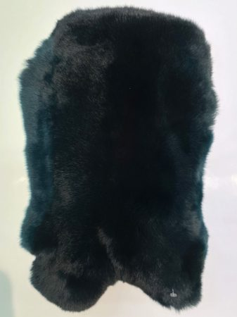Castor rex fur, dark green