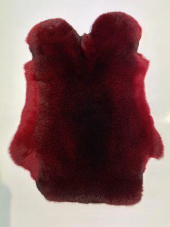Castor rex fur, red