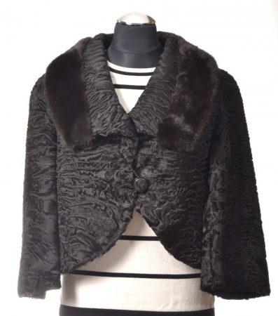 Swakara kabát, fekete